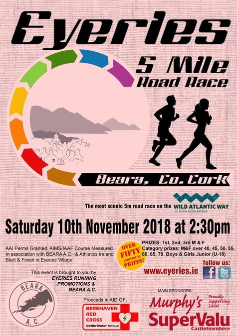 eyeries 5 mile road race flyer 2018