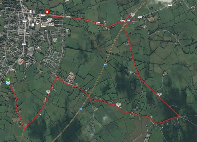galtee runners mitchelstown gr8 8k road race route map satellite 2017