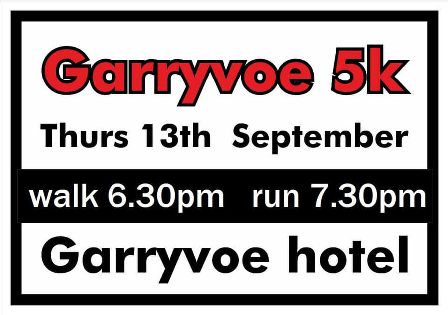 garryvoe 5k road race start time 2018
