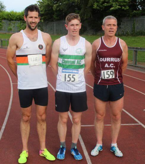 first three men 1500m cork athletics graded leagues round 3 june 2018