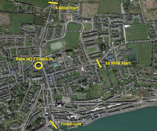 Cobh 10 Start Finish Check in Locations