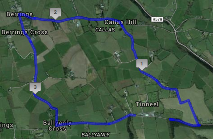 Matehy 4 Mile Road Race - Inniscarra - Race route