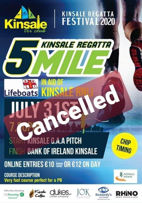 kinsale regatta 5 mile 2020 cancelled