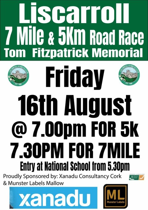liscarroll ac 7 mile road race flyer 2019a