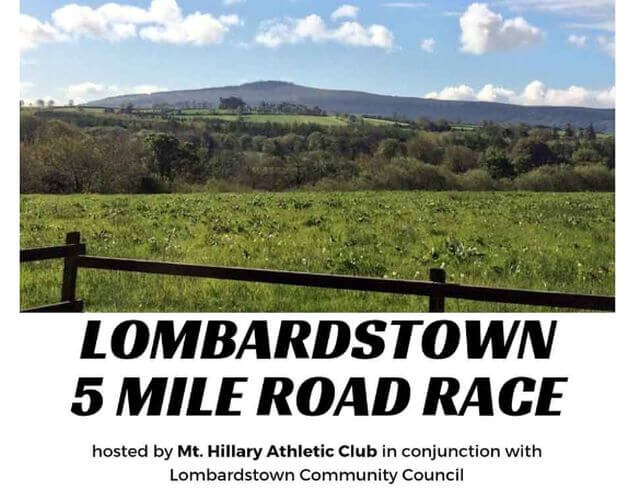 lombardstown 5 mile road race banner 2019