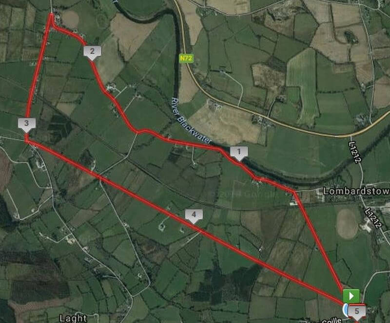lombardstown 5 mile road race course map