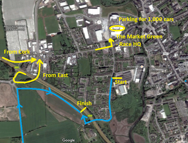 Midleton 5 Race Locations