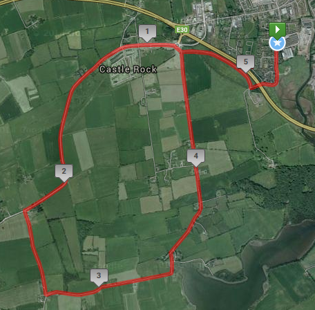 Midleton 5 Route Map