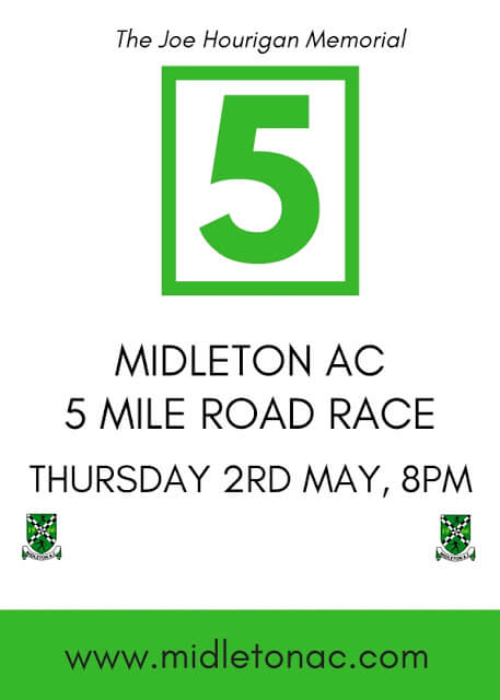 midleton 5 mile road race flyer 2019