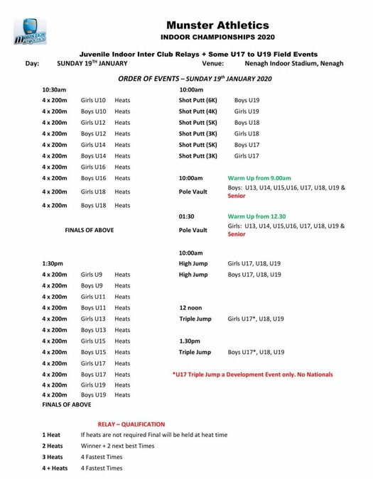 munster juvenile relays and u17 u19 field events programme 2020 1