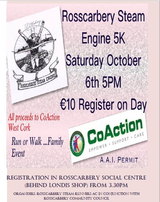 rosscarbery steam runners 5k flyer 2018