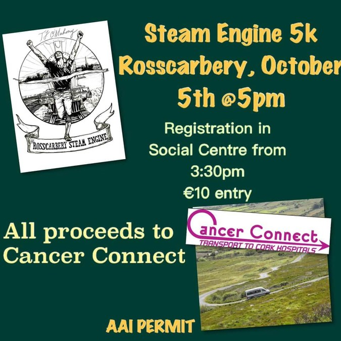 rosscarbery steam runners 5k flyer 2019