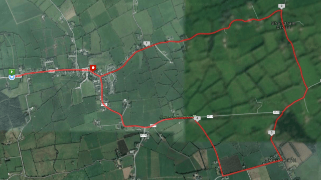 shandrum ac 5 mile course route map