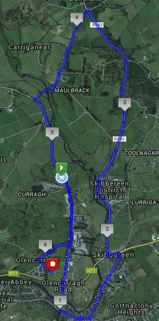 Skibbereen 10k Road Race Course Route Map
