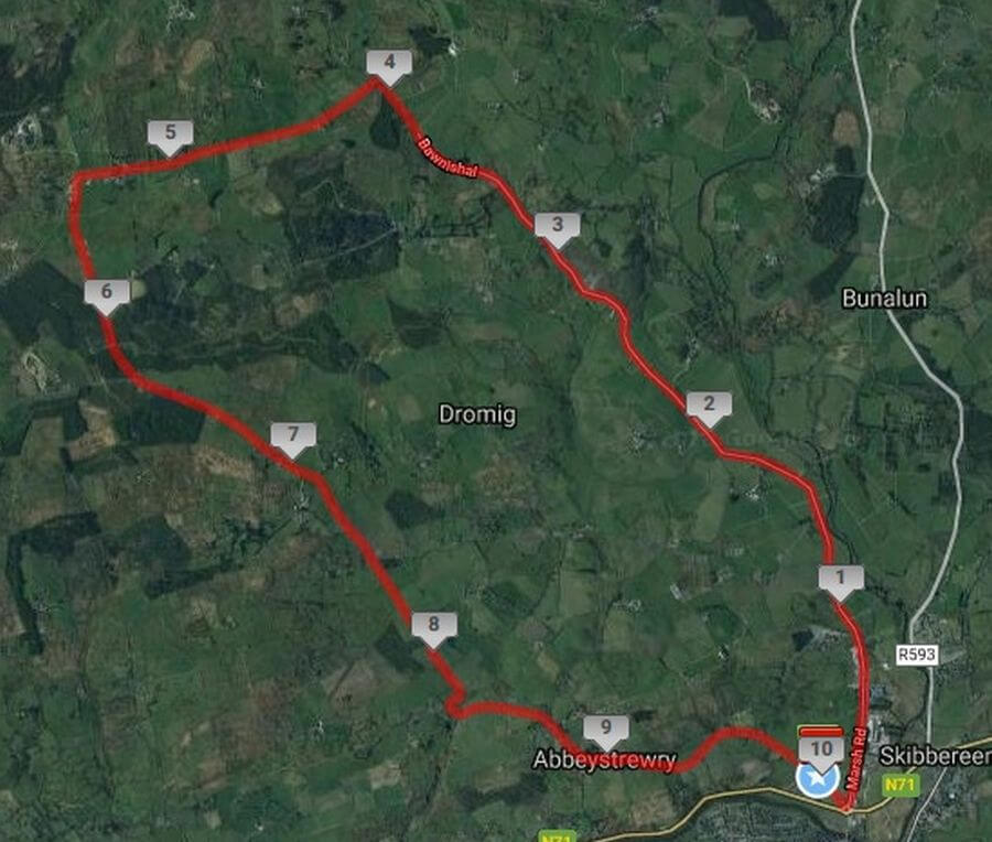 skibbereen 10 mile road race course map