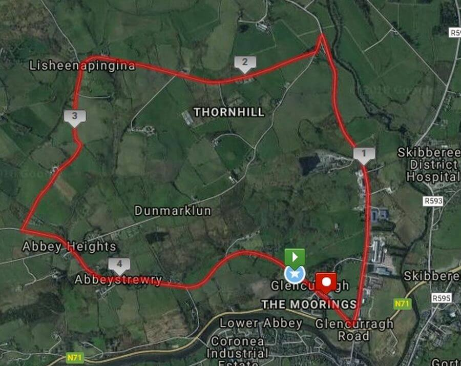 skibbereen 5 mile road race course map