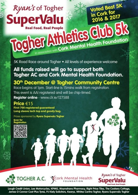 cork mental health togher 5k road race flyer 2018 11