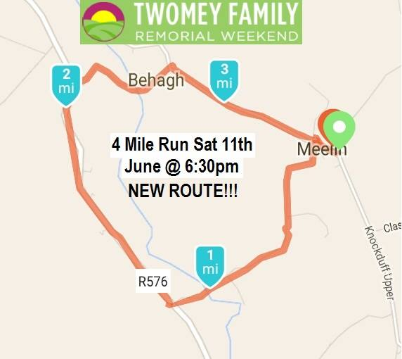 Twomey Family Remorial 4 Route Map 2016