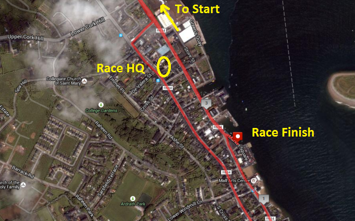 Youghal 5k - Race HQ - Youghal Community Centre - Location