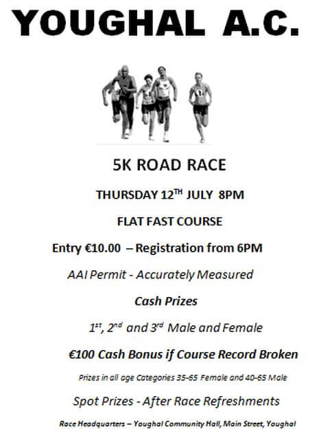 youghal 5k road race 2018 cork athletics