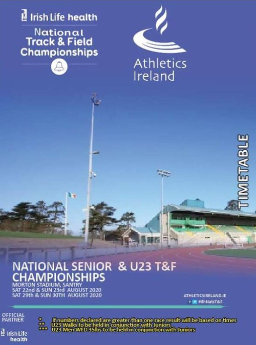 athletics ireland national tandf chps 2020 flyer