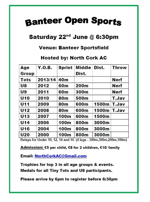 banteer open sports flyer 2019