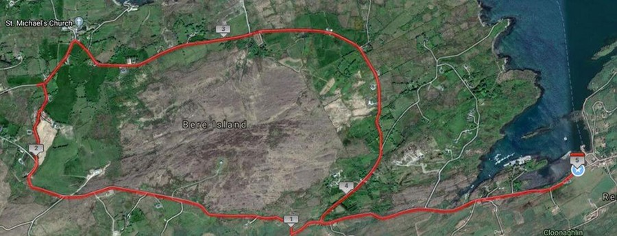 bere island 5 mile course route map