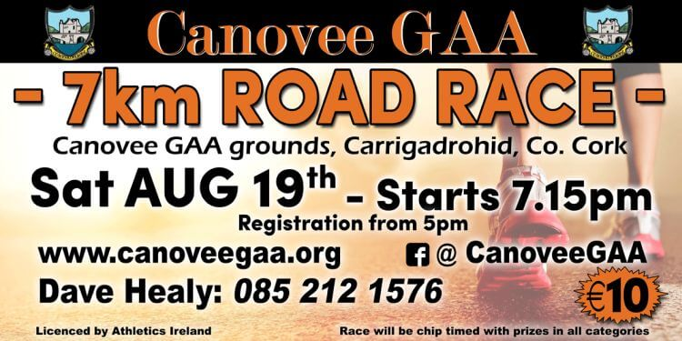 canovee gaa 7k road race flyer 2017