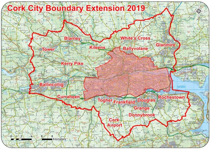 cork city boundary extension 2019 map