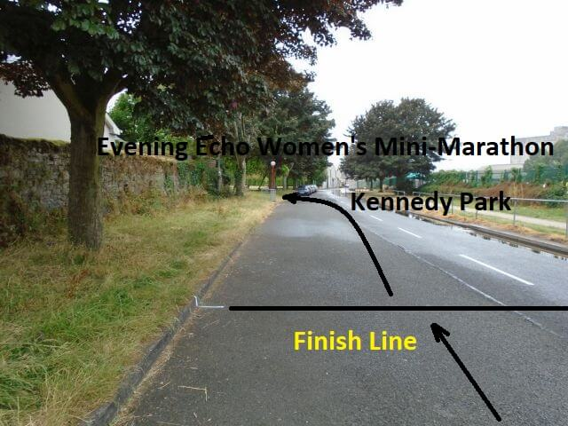 cork womens 6k mini marathon finish line