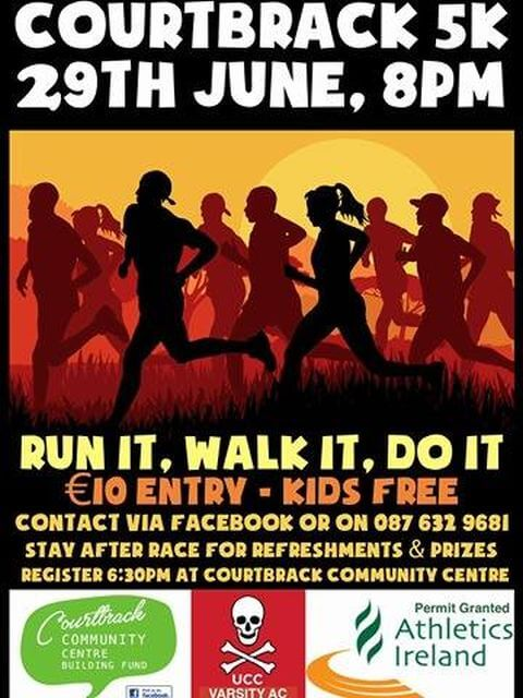 courtbrack 5k road race flyer 2017