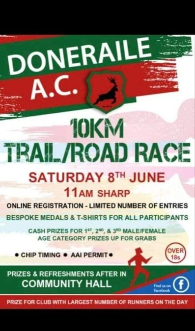 doneraile 10k race flyer 2019