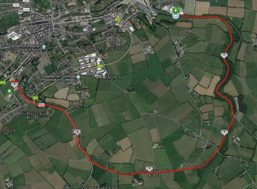 bandon ac donough coughlan memorial 5k course route map