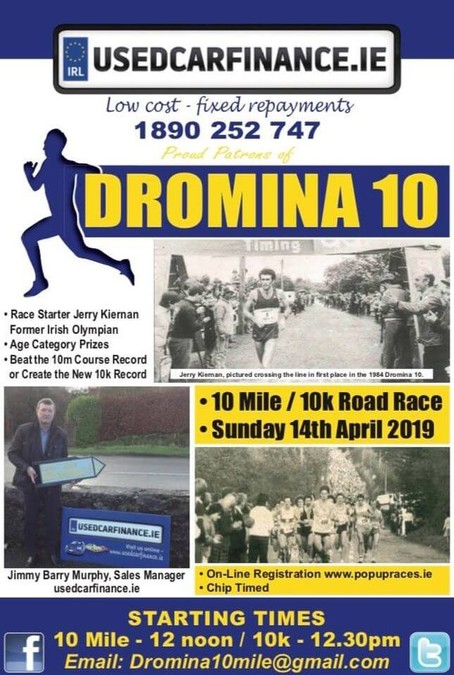 dromina 10 mile road race flyer 2019