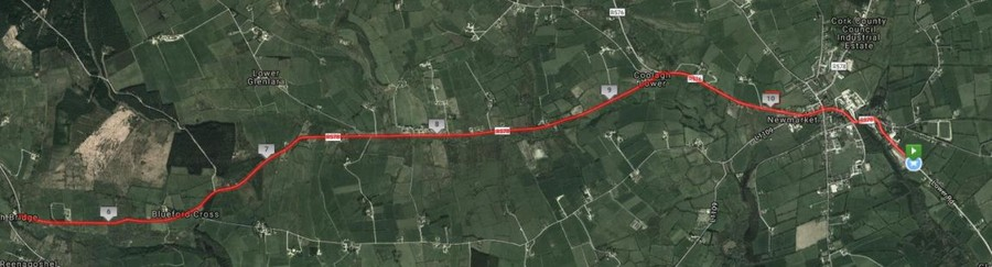duhallow 10 mile road race route map