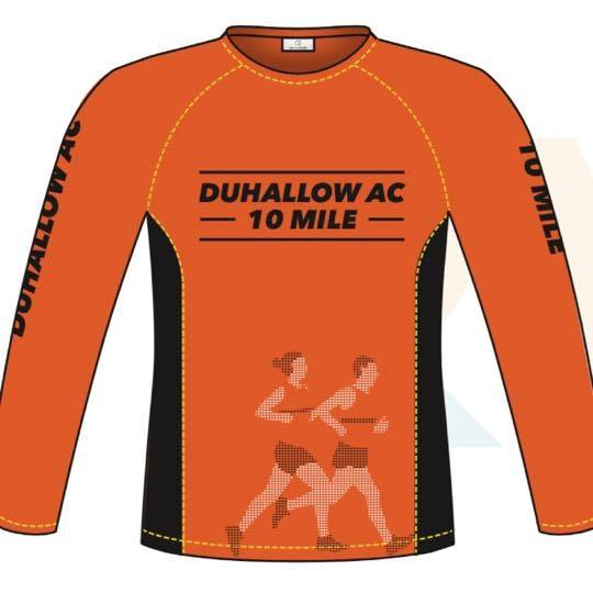 duhallow 10 mile road race shirt 2018