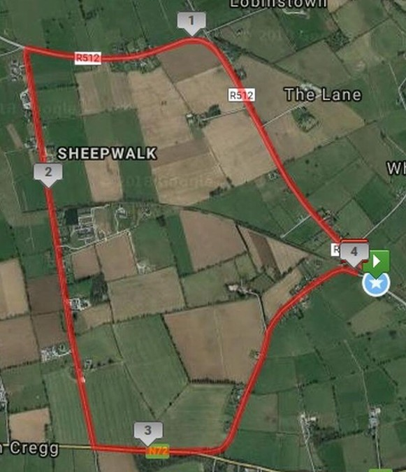 grange fermoy 4 mile road race 2018 course map