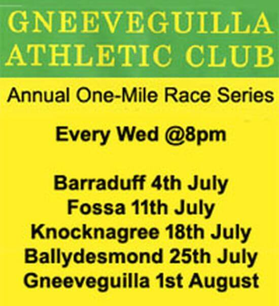 gneeveguilla ac annual 1 mile series flyer 2018