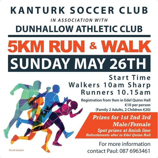 Kanturk Soccer Club 5k 2019 - Cork Athletics