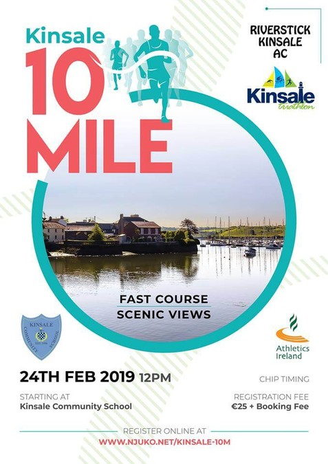 kinsale 10 mile road race 2019 flyer a