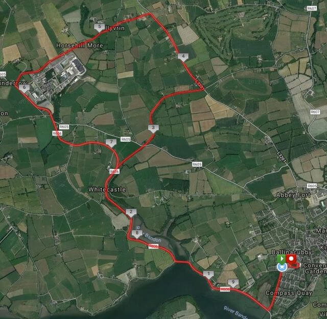 kinsale 10 mile road race course route map 2019 a