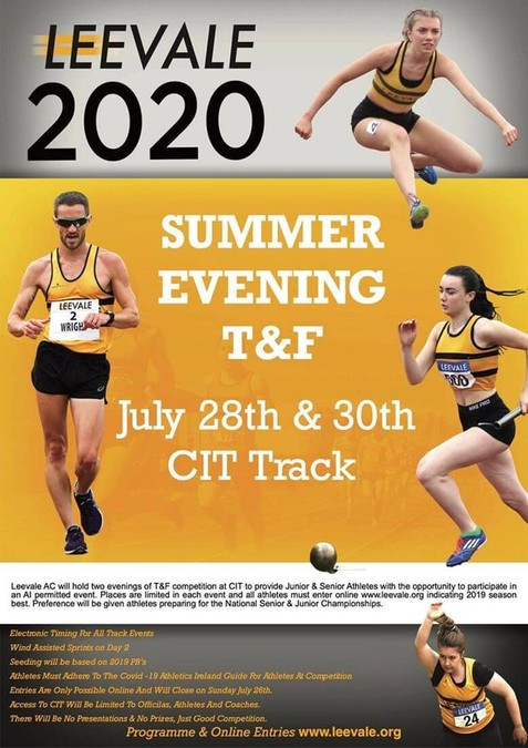 leevale summer evening meet flyer 2020
