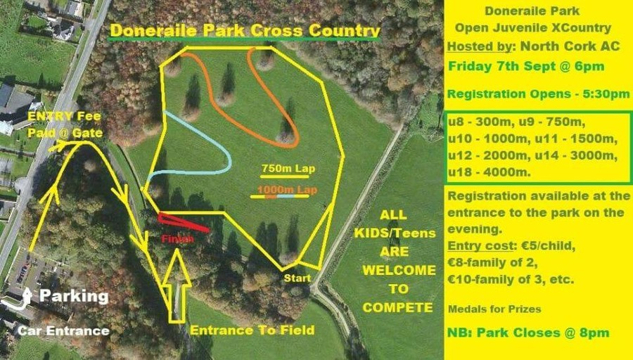 north cork ac juvenile cross country september 2018