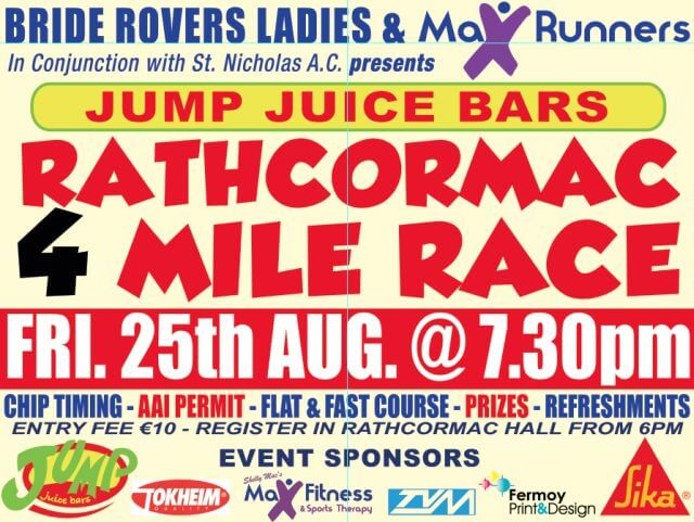 bride rovers 4 mile road race 2017 flyer