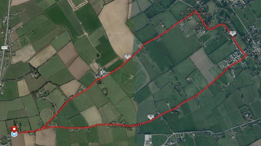 rathcormac 4 mile road race course route map