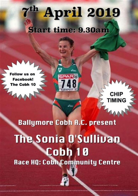 sonia o sullivan 10 mile road race flyer 2019s