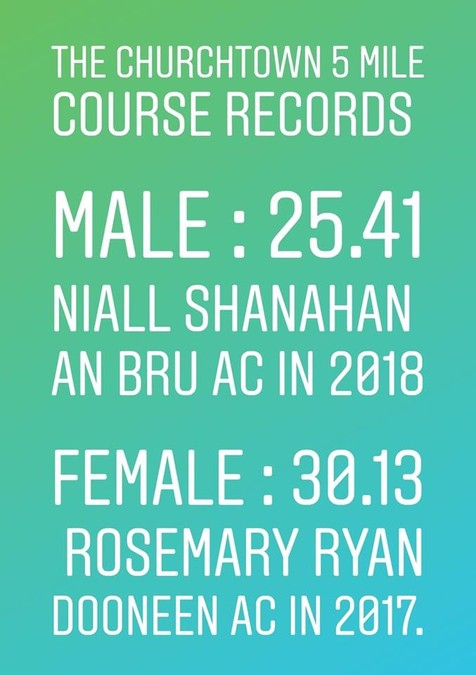 churchtown 5 mile road race course records 2019