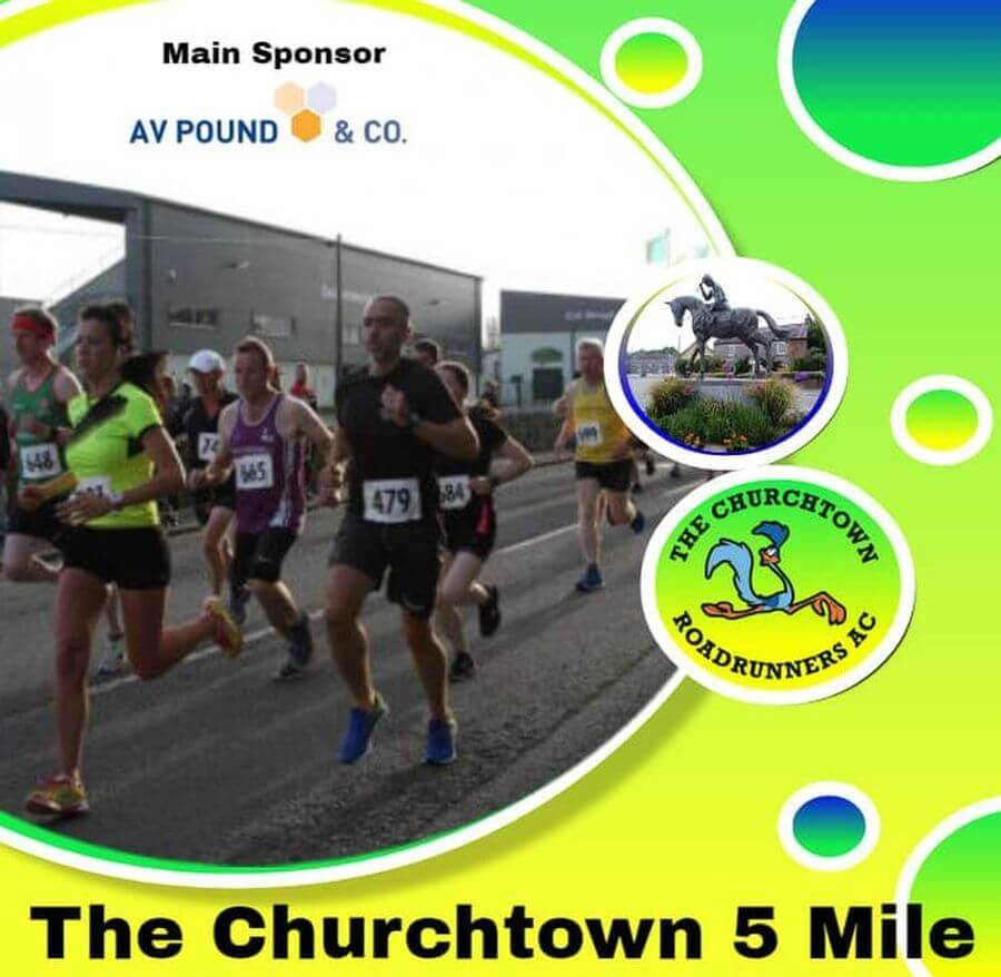 churchtown 5 mile road race flyer 2019 Red