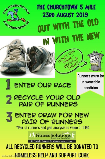 churchtown road runners ac shoe recycle 2019