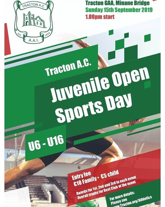 tracton open sports flyer 2019